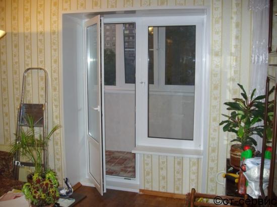 Как сделать откос к балконной двери.