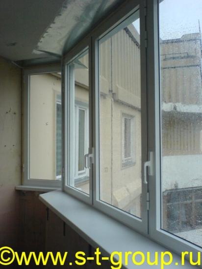 Остекление и внутренняя отделка балконов и лоджий: алюминиев.